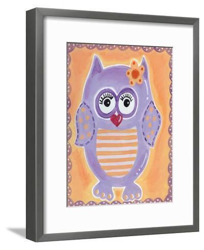 Purple Owl-Tammy Hassett-Framed Art Print