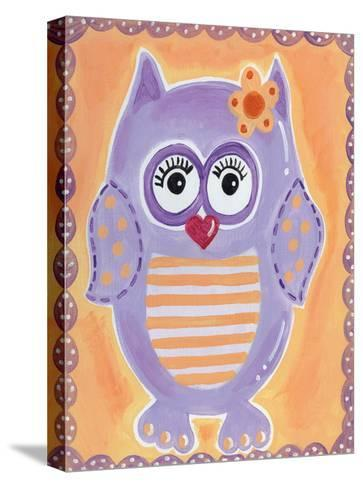 Purple Owl-Tammy Hassett-Stretched Canvas Print