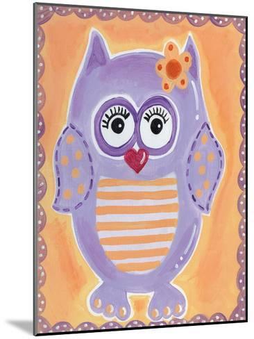 Purple Owl-Tammy Hassett-Mounted Art Print