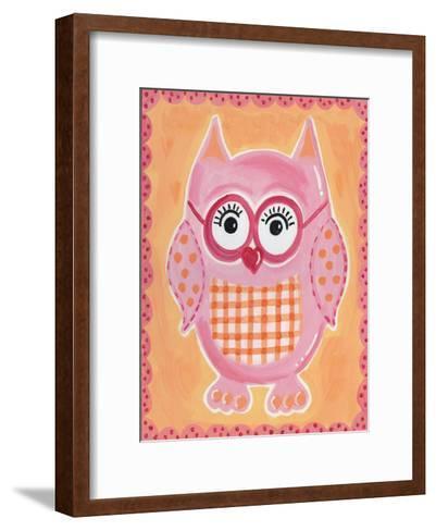 Pink Owl-Tammy Hassett-Framed Art Print