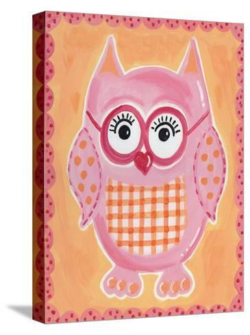 Pink Owl-Tammy Hassett-Stretched Canvas Print