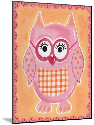 Pink Owl-Tammy Hassett-Mounted Art Print
