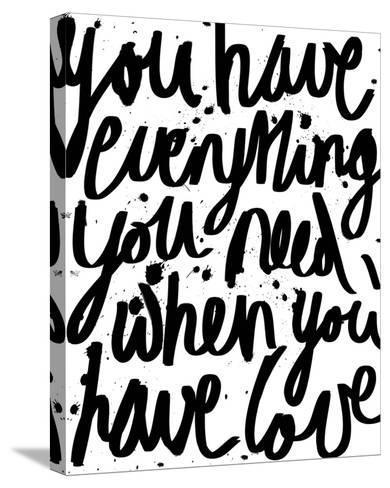 Love is Everything-Sasha Blake-Stretched Canvas Print