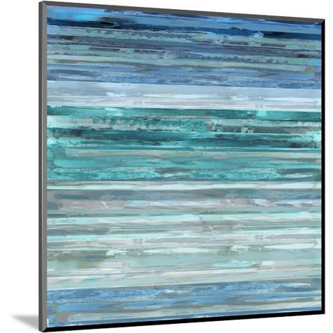 Strata In Aqua-Matt Shields-Mounted Giclee Print
