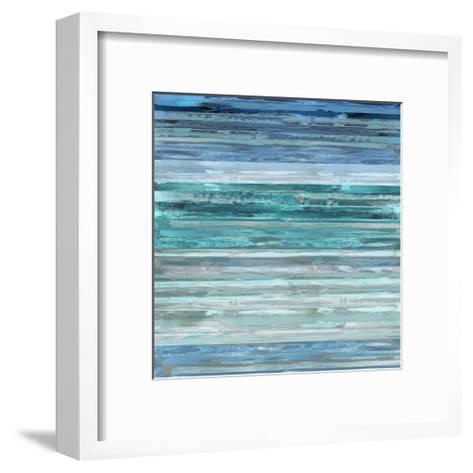 Strata In Aqua-Matt Shields-Framed Art Print
