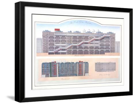 Paris - Centre Pompidou-Libero Patrignani-Framed Art Print