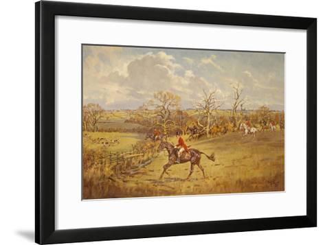 The Meynell - Evening Hunt from Eaton Wood-John King-Framed Art Print