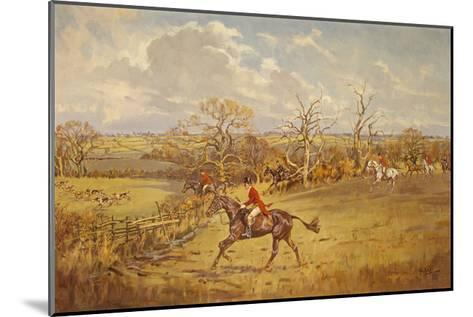 The Meynell - Evening Hunt from Eaton Wood-John King-Mounted Premium Giclee Print