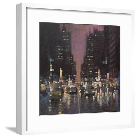 Midnight City-David Hinchliffe-Framed Art Print