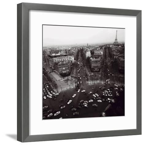View from the Arc de Triomphe to the Place de l'Etoile, 1960s-Paul Almasy-Framed Art Print
