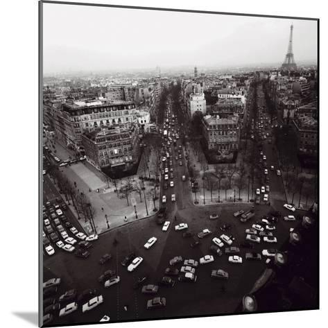 View from the Arc de Triomphe to the Place de l'Etoile, 1960s-Paul Almasy-Mounted Art Print