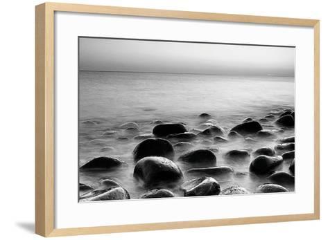 Rocks in Mist 3--Framed Art Print