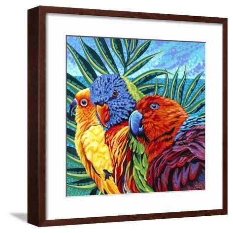 Birds in Paradise I-Carolee Vitaletti-Framed Art Print