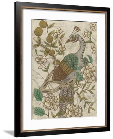 Chinoiserie Pheasant II-Chariklia Zarris-Framed Art Print