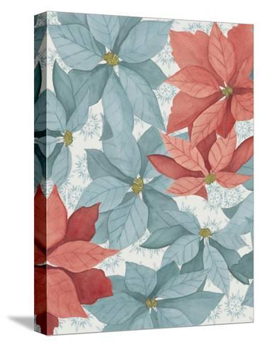 Christmas Poinsettia I-Grace Popp-Stretched Canvas Print
