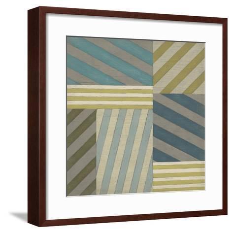 Nautical Stripes II-June Erica Vess-Framed Art Print