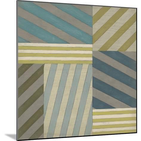 Nautical Stripes II-June Erica Vess-Mounted Art Print