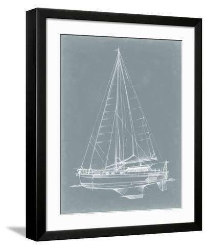 Yacht Sketches I-Ethan Harper-Framed Art Print