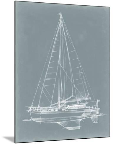 Yacht Sketches I-Ethan Harper-Mounted Giclee Print