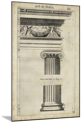 Ancient Architecture III-John Evelyn-Mounted Giclee Print