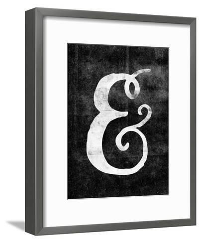 Ampersand Paint Swirl on Blk-Brett Wilson-Framed Art Print