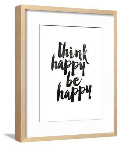 Think Happy Be Happy 2-Brett Wilson-Framed Art Print