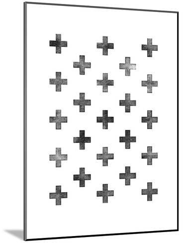 Swiss Cross Pattern on White-Brett Wilson-Mounted Art Print