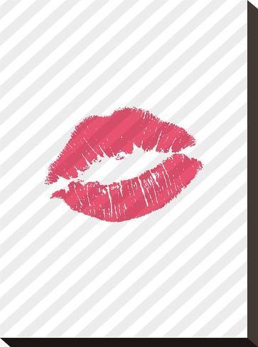 Pink Lips-Brett Wilson-Stretched Canvas Print