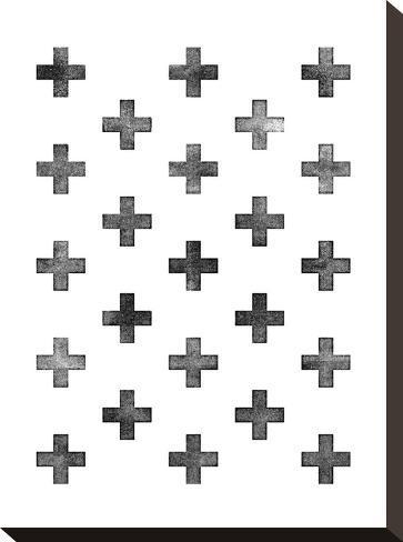 Swiss Cross Pattern on White-Brett Wilson-Stretched Canvas Print