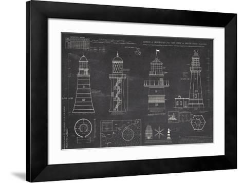 Survey of Lighthouses-The Vintage Collection-Framed Art Print