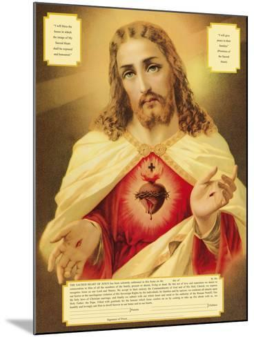 The Sacred Heart of Jesus-The Vintage Collection-Mounted Giclee Print
