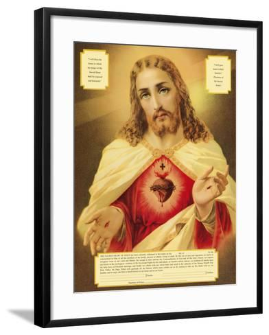 The Sacred Heart of Jesus-The Vintage Collection-Framed Art Print