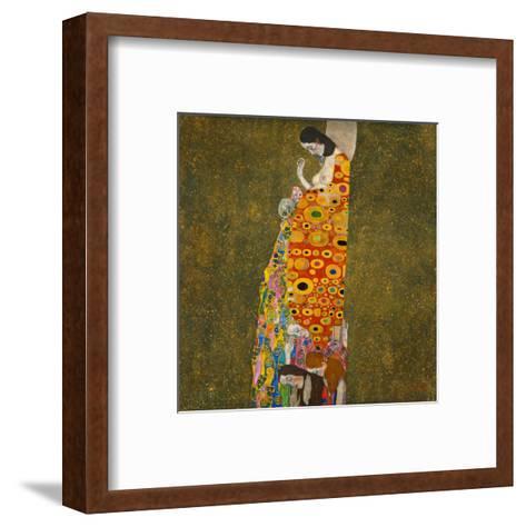 Hope II-Gustav Klimt-Framed Art Print