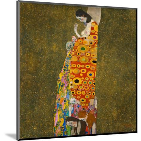 Hope II-Gustav Klimt-Mounted Art Print
