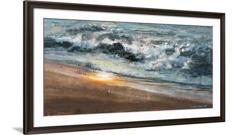 Shoreline study 02015-Carole Malcolm-Framed Art Print