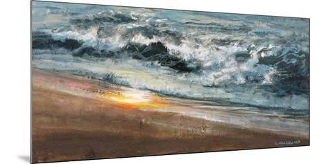 Shoreline study 02015-Carole Malcolm-Mounted Art Print