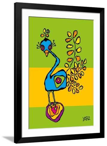 The Funny Bird-Yaro-Framed Art Print