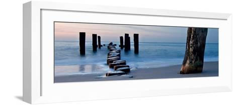 Ocean Sunrise-Fline-Framed Art Print