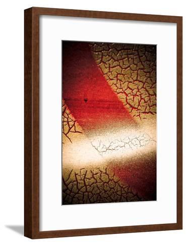 Rust Line Abstract I-Jean-Fran?ois Dupuis-Framed Art Print
