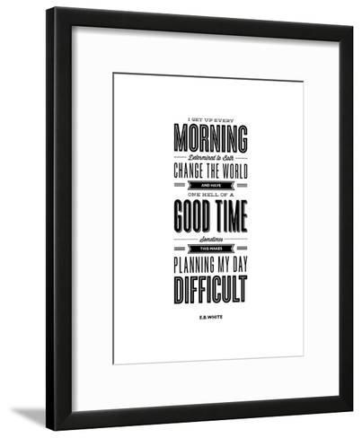 I Get Up Every Morning-Brett Wilson-Framed Art Print