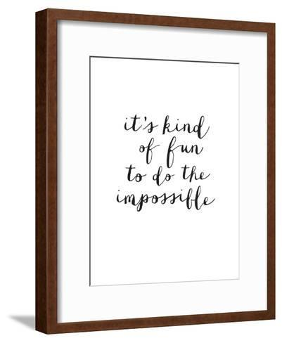 Its Kind of Fun to do the Impossible-Brett Wilson-Framed Art Print