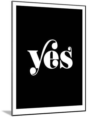 Yes BLK-Brett Wilson-Mounted Art Print