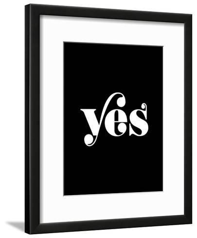Yes BLK-Brett Wilson-Framed Art Print