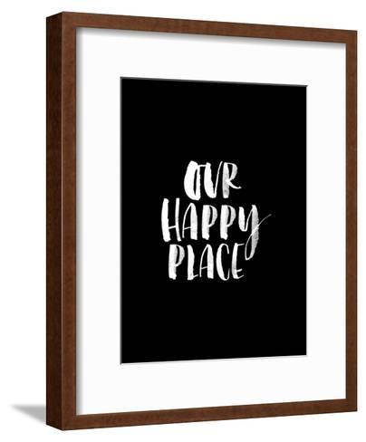 Our Happy Place BLK-Brett Wilson-Framed Art Print