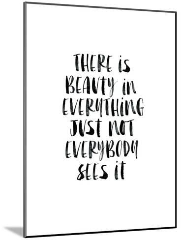 There Is Beauty In Everything Watercolor-Brett Wilson-Mounted Art Print