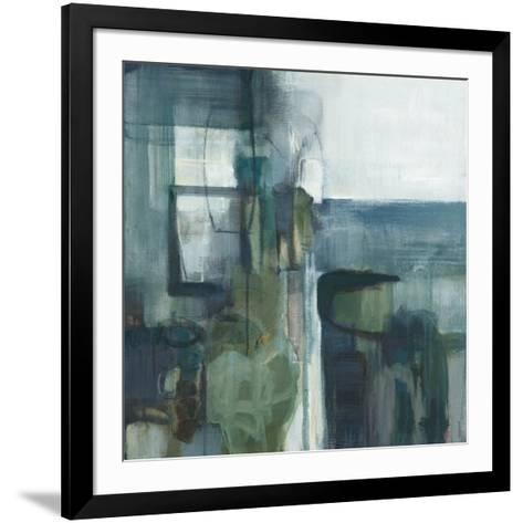 Blue Geometry-Terri Burris-Framed Art Print