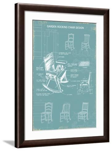 Rocking Chair Blueprint-The Vintage Collection-Framed Art Print