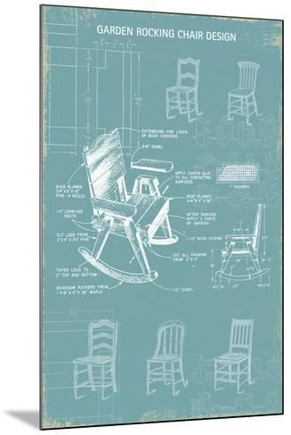 Rocking Chair Blueprint-The Vintage Collection-Mounted Giclee Print