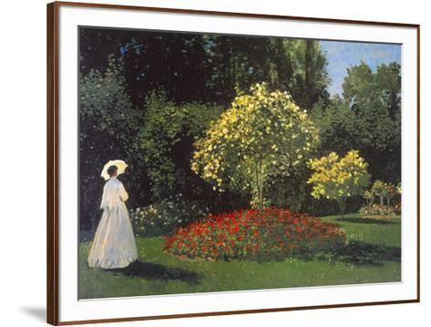 Jeanne-Marguerite Lecadre in the Garden-Claude Monet-Framed Art Print