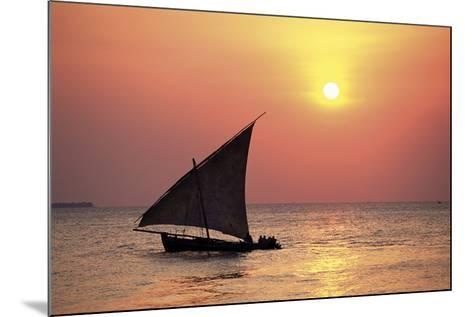 Dhow at Sunset-Lee Frost-Mounted Giclee Print